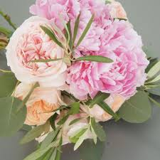peonies bouquet peonies and david garden roses bridal bouquet flower muse