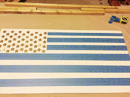 Blue And Black Striped Flag Wooden Flag Wall Art U2013 Building Briggs