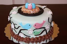 baby shower cake ideas for triplets twins baby shower cake pink