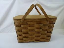 vintage picnic basket vintage putney basketville vermont large woven wood picnic basket