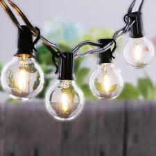 light bulb string lights 25ft clear globe bulb g40 string light set with 25 g40 bulbs