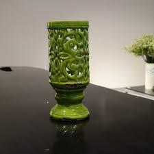 aliexpress com buy green ceramic hollow flowers vase home decor