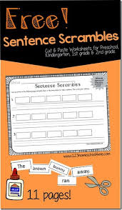 free sentence scrambles