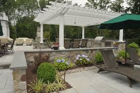 pergola outdoor kitchen outdoor kitchen with natural stone veneer and pergola sponzilli