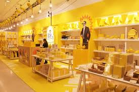 selfridges big yellow pop shop pantone 109 adding color