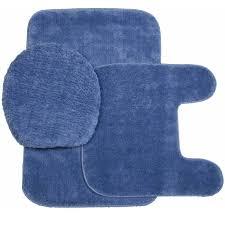 Blue Bath Mat Plush Bath Rug Set Toilet Seat Cover And Rug Set Miles Kimball