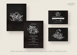 Black Wedding Invitations Black Wedding Invitations Vintage Black And White Retro Tattoo