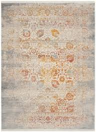 Modern Grey Rug Orange Rug Rust Colored Rugs Safavieh Of Grey And