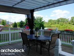 Screened In Pergola by Pergola With Mosquito Curtains An Alternative To A Screened In