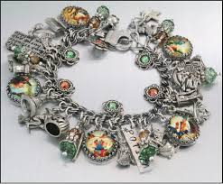halloween charms charm bracelet jewelry harry potter inspired alice in
