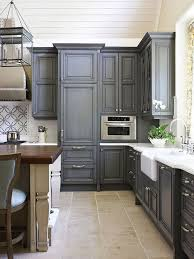 painted kitchen floor ideas 76 exles charcoal grey chalk paint cabinet with beige
