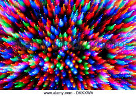 tree lights motion blur abstract stock photo royalty