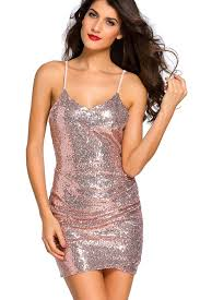 club dresses ruched spaghetti gold sequin club dresses mb22626 18