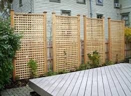 Outdoor Privacy Screens For Backyards Here Are Tall Rectangular Cedar Lattice Privacy Panels Backyard