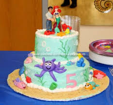 coolest little mermaid 5th birthday cake 101