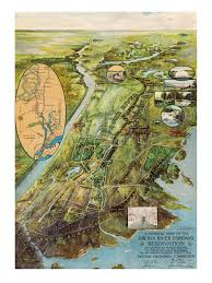 Har Map Old Map Of Bronx River Parkway In New York 1915