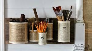 tin home decor repurposed tin cans wall organizer hometalk