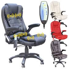 Recliner Computer Desk by Massage Chair Massaging Computer Chair With Heat Leather Massage