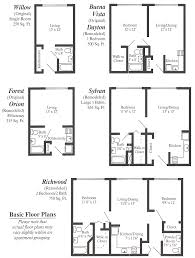 Simple Floor Plans With Dimensions by Apartment Building Floor Plans Designs Apartments 3 Bedrooms
