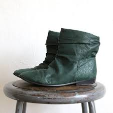 womens boots green leather shop 80s ankle boots on wanelo