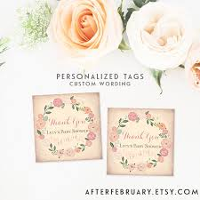 bridal shower favor tags personalized bridal shower favor tag custom wording floral summer