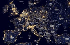 Light Polution Map Diane Duane U2014 Rieni Light Pollution Map Of Europe This Is