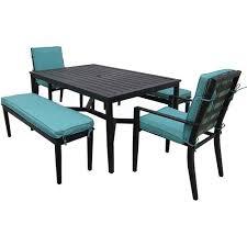 Mainstays Crossman 7 Piece Patio Dining Set Green Seats 6 Amazon Com Mainstays Rockview 5 Piece Patio Dining Set Black