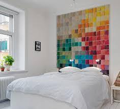 papier peint design chambre papiers peints trompe l oeil pour une chambre au fil des