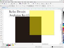 membuat gambar transparan di corel draw x7 cara memberi efek transparan pada coreldraw kelas desain belajar
