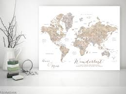 Pin World Map by Making A Diy Travel Push Pin Map With One Of Blursbyai U0027s Printable