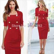 women dress fashion long business attire pure color leisure tight