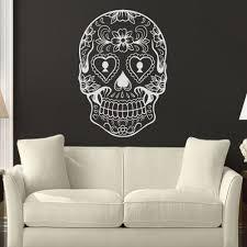 aliexpress com buy sugar skull mexico floral swirl home