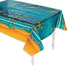 table covers for party tropical palm tree table cover party tableware
