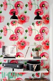 Best Modern Vintage Interior Design Images On Pinterest - Poppy wallpaper home interior