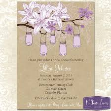 jar bridal shower invitations purple jar bridal shower invitation hanging jars