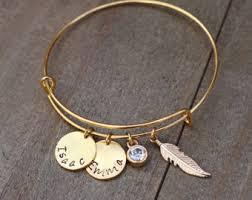 personalized bangle bracelets custom bangle etsy