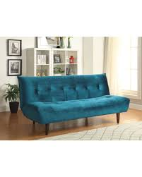 check out these bargains on coaster blue velvet sofa bed blue