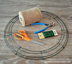 Halloween Wreath Supplies by How To Make A Burlap Wreath Celebrate U0026 Decorate
