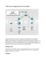 gns3 lab configuring asa using asdm virtual private network