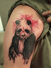 34 watercolor panda tattoos