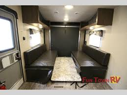 trailer garage blend comfort and fun in the heartland trail runner toy hauler