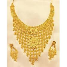 set of gold fancy gold necklace set shri hari jewellers manufacturer in