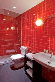 Red Bathroom Decorating Ideas Appealing Red Bathroom Color Ideas