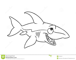 fish shark illustration coloring pages stock image image 37934911