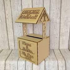 wishing box wedding wishing well personalised mdf wedding card box post box ebay