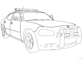 police car dodge charger coloring pages printable