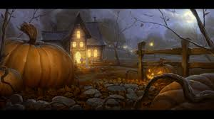 scary halloween pumpkin 2012 haunted house hd wallpaper of late