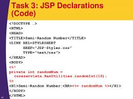 jsp and servlet tutorial invoking java code with jsp scripting eleme u2026