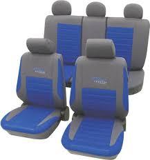 siege passager de siège 11 pièces cartrend 60120 polyester bleu siège conducteur