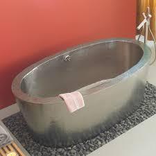 Soaker Bathtubs Aspen 64 Inch Freestanding Copper Soaking Tub Native Trails
